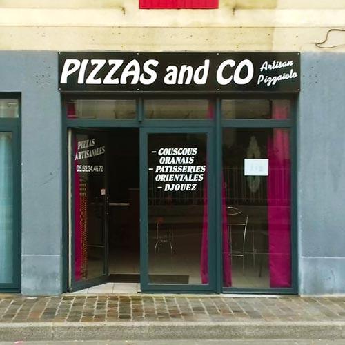 Enseigne Pizzas & Co pizzeria restaurant couscous Tarbes